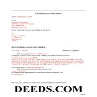 Greene County Completed Example of the Notice of Unpaid Balance Lien Document Page 1