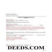 Lawrence County Completed Example of the Verified Statement of Lien Document Page 1