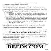 Pickens County Declaration of Lien Rights Guide Page 1