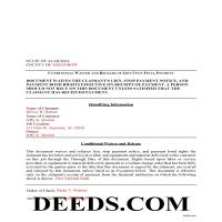 Lowndes County Completed Example of the Conditional Lien Waiver on Final Payment Document Page 1