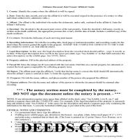 Cherokee County Affidavit of Surviving Joint Tenant Guide Page 1