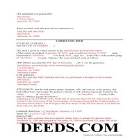 Choctaw County Completed Example of the Correction Deed Document Page 1
