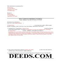 Lawrence County Completed Example of the Disclaimer of Interest Document Page 1