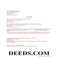 Dillingham Borough Completed Example of the Gift Deed Document Page 1