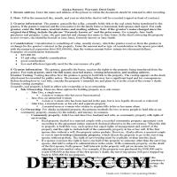 Northwest Arctic Borough Warranty Deed Guide Page 1