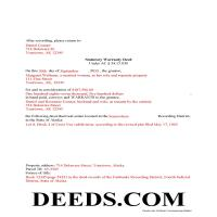 North Slope Borough Completed Example of the Warranty Deed Document Page 1