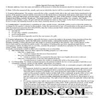 Skagway Hoonah Angoon Borough Special Warranty Deed Guide Page 1