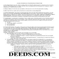 Haines Borough Interspousal Transfer Grant Deed Guide Page 1