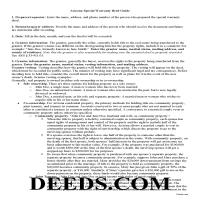 Cochise County Special Warranty Deed Guide Page 1