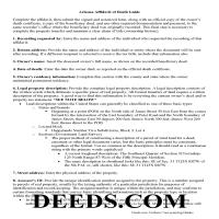Pinal County Affidavit of Death Deed Guide Page 1
