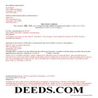 Pima County Completed Example of the Trustee Deed Document Page 1