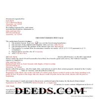 Navajo County Completed Example of the Trustee Deed Document Page 1