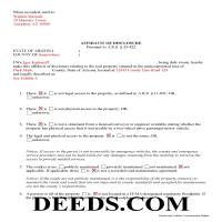 Coconino County Completed Example of the Affidavit of Disclosure Document Page 1