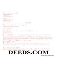 Lee County Completed Example of the Gift Deed Document Page 1