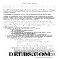 Ouachita County Warranty Deed Guide Page 1