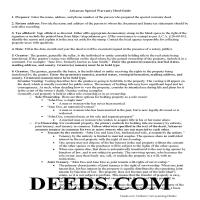 Ouachita County Special Warranty Deed Guide Page 1