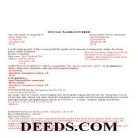 Ouachita County Completed Example of the Special Warranty Deed Document Page 1