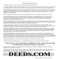 Ouachita County Easement Deed Guide Page 1