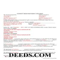 Ouachita County Completed Example of the Easement Deed Document Page 1