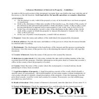 Ouachita County Disclaimer of Interest Guide Page 1