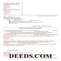 Alameda County Completed Example of the Personal Representative Deed Document Page 1
