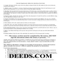 Alamosa County Affidavit of Deceased Grantor Guide Page 1