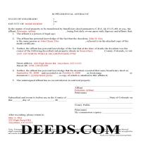 Washington County Completed Example of the Affidavit of Deceased Grantor Document Page 1
