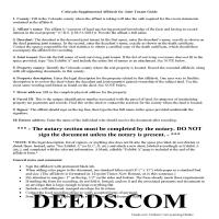 Chaffee County Affidavit of Deceased Joint Tenant Guide Page 1