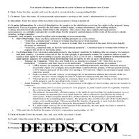 Bent County Personal Representative Deed of Distribution Guide Page 1