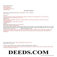 Hinsdale County Completed Example of the Trustee Deed Document Page 1