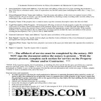 Chaffee County Notice of Mechanics Lien Guide Page 1