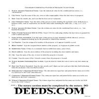 Adams County Conditional Lien Waiver Guide Page 1