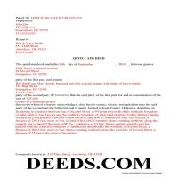 Kent County Completed Example of the Quit Claim Deed Document Page 1