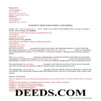 Hartford County Completed Example of the Easement Deed Document Page 1