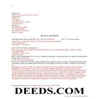 Sussex County Completed Example of the Quit Claim Deed Document Page 1