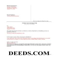 Palm Beach County Completed Example of the Notice to Contractor Document Page 1
