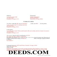 Jeff Davis County Completed Example of the Warrranty Deed Document Page 1