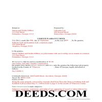 Jeff Davis County Completed Example of the Special Warranty Deed Document Page 1