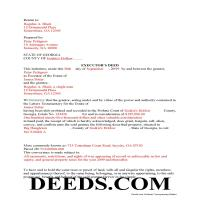 Jeff Davis County Completed Example of the Executor Deed Document Page 1