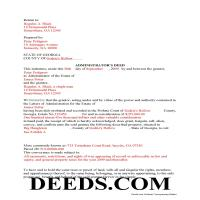 Jeff Davis County Completed Example of the Administrator Deed Document Page 1