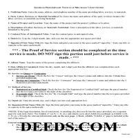 Jeff Davis County Preliminary Notice of Mechanics Lien Guide Page 1