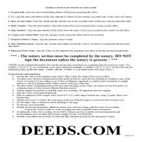 Taylor County Notice of Contest of Lien Guide Page 1