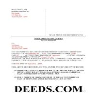 Candler County Completed Example of the Notice of Contest of Lien Document Page 1