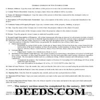 Jeff Davis County Affidavit of Non Payment Guide Page 1