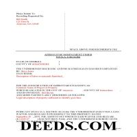 Jeff Davis County Completed Example of the Affidavit of Non Payment Document Page 1