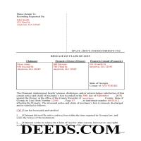 Jeff Davis County Completed Example of the Release of Claim of Lien Document Page 1