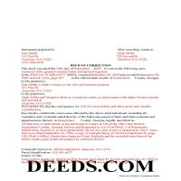 Jeff Davis County Completed Example of the Correction Deed Document Page 1