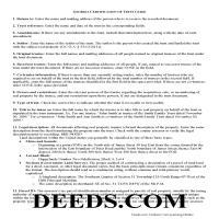 Jeff Davis County Certificate of Trust Guide Page 1