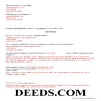 Clark County Completed Example of the Gift Deed Document Page 1