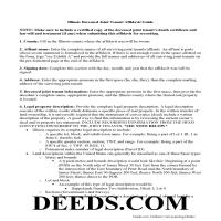 Scott County Joint Tenant Affidavit Guide Page 1